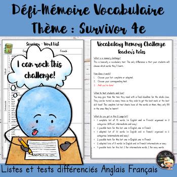 Vocabulary Word List Survivor