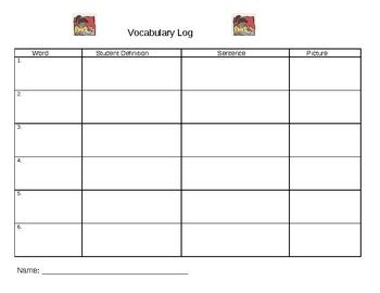 Vocabulary Word Log