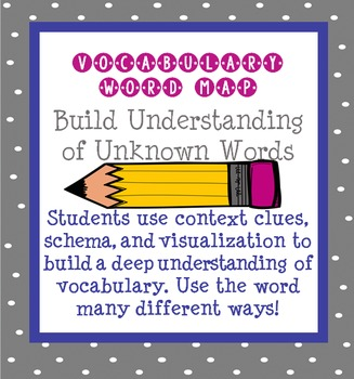 FREE Vocabulary Word Map - Build Understanding of New Words-