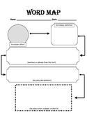 Vocabulary Word Map Graphic Organizer