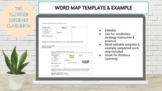 Vocabulary Word Map Template & Example (Editable, Distance