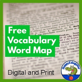 FREE Vocabulary Word Map for Fiction