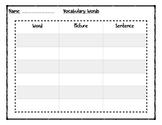 Vocabulary Word Organizer