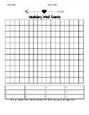 Vocabulary Word Search