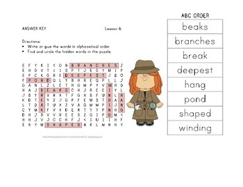 ABC Order and Word Search - Animals Building Homes - Journeys Aligned