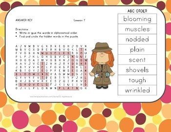 ABC Order and Word Search - The Ugly Vegetables - Journeys Aligned