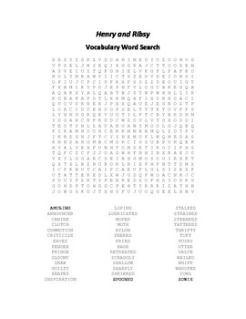Vocabulary Word Search for Beverly Cleary's Henry and Ribsy