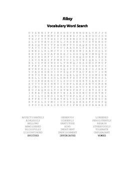 Vocabulary Word Search for Beverly Cleary's Ribsy