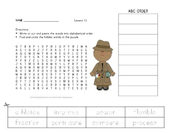 Word Search with ABC Order - Technology Wins the Game - Journeys Aligned