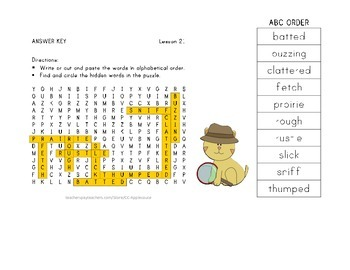 Vocabulary Word Search with ABC Order - Journeys 3rd Grade - Lesson 21