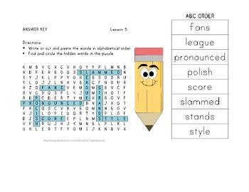 Word Search with ABC Order - Roberto Clemente - Journeys Aligned