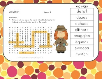Word Search with ABC Order - Bat Loves the Night - Journeys Aligned