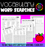 Vocabulary Word Searches