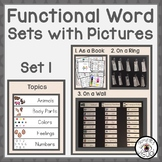 Functional Word Sets with Pictures Set 1