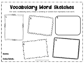 Vocabulary Word Sketches