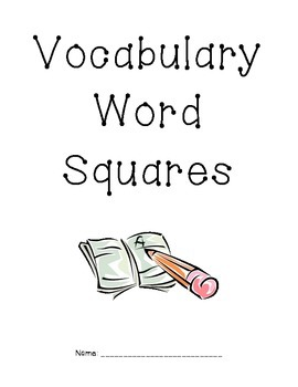 Vocabulary Word Squares