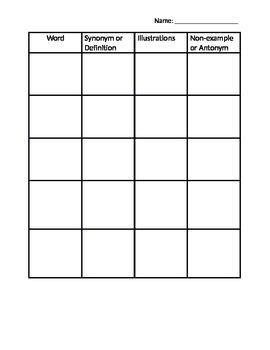 Vocabulary-Word Squares