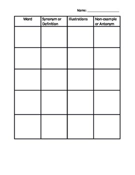 Vocabulary-Word Squares