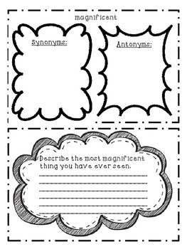 Vocabulary Word Study: Word of the Week- Weeks 11-20