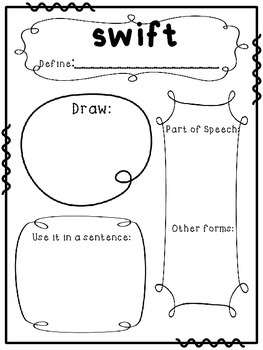 Vocabulary Word Study: Word of the Week