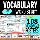 Vocabulary Activities - Word Study BUNDLE with Word Wall P