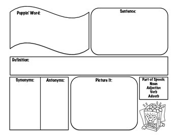 Vocabulary Word Template