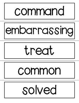 Vocabulary Word Wall Cards