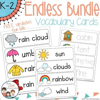 Vocabulary Word Wall Cards Endless Bundle with Free Updates for Life