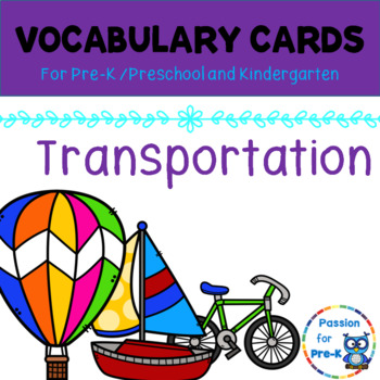 Vocabulary-Word Wall Cards – Transportation