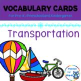 Vocabulary-Word Wall Cards – Transportation