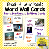 Root, Prefix, & Suffix Word Wall Cards for Greek and Latin