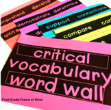 Vocabulary Word Wall Critical Tier 2