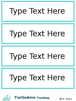 Vocabulary Word Wall - Editable