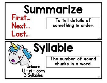Vocabulary Word Wall - Free Sample