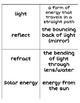 Vocabulary Word Wall Relay-Physical Science