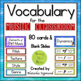 Vocabulary Word Wall for the Music Classroom