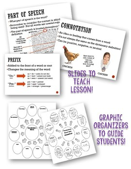 Vocabulary Word Web: Using Reference Materials