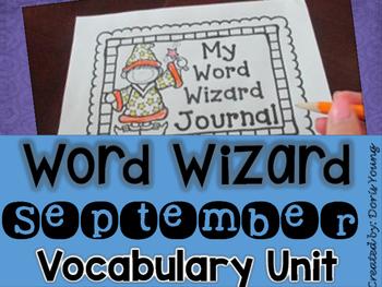 Vocabulary Word Wiz Journal: September Set