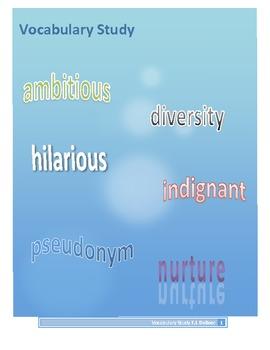 Vocabulary: Word Work