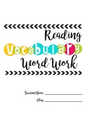 Vocabulary Word Work