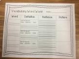 Vocabulary Word Work