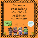 Vocabulary Word Work Activities: Fall & Winter