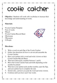 Vocabulary Word Work {Activities or Centers} Grades 3-8  - Set 2