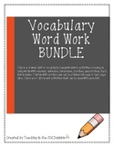Vocabulary Word Work BUNDLE