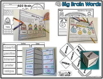 Vocabulary Word Work: Big Brain Words BIG BUNDLE