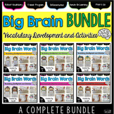 Vocabulary Word Work: Big Brain Words BIG BUNDLE