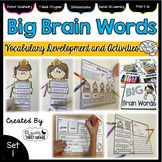 Vocabulary Activities: Big Brain Words Set 1