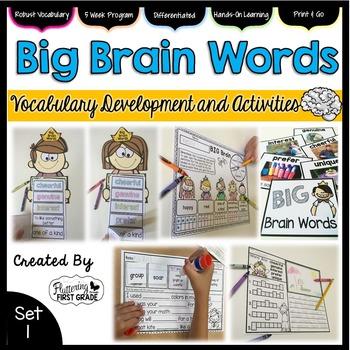 Vocabulary Activities: Big Brain Words Set 1