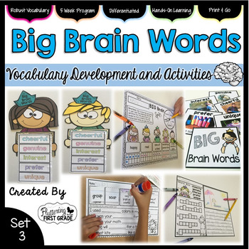 Vocabulary Activities: Big Brain Words Set 3