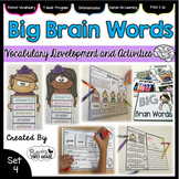 Vocabulary Activities: Big Brain Words Set 4